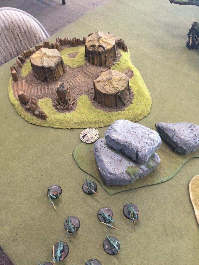 Danny's skinks winning him the game